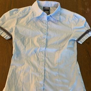 French toast girls size 8 uniform light blue shirt